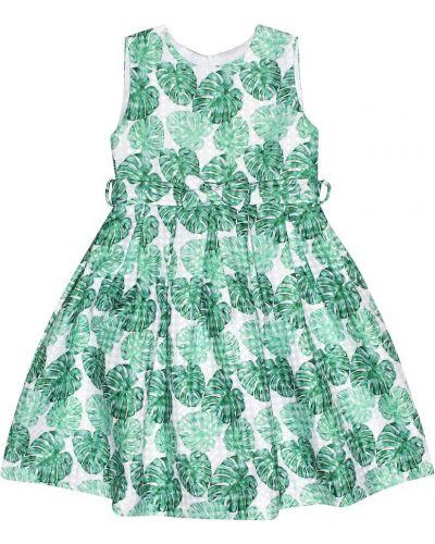Zielona sukienka mini bawełniana Rachel Riley