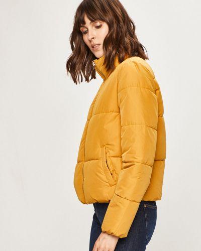 Тонкая прямая горчичная стеганая куртка Jacqueline De Yong