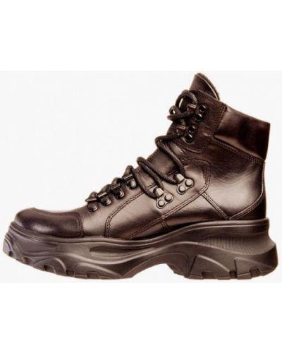 Кожаные ботинки - коричневые Cliford