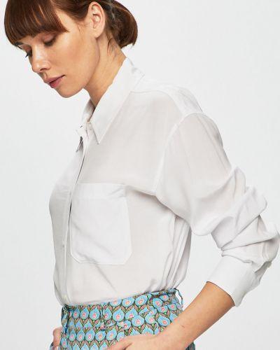 Блузка с длинным рукавом однотонная из вискозы Calvin Klein Jeans
