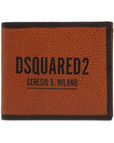 Brązowy portfel skórzany Dsquared2