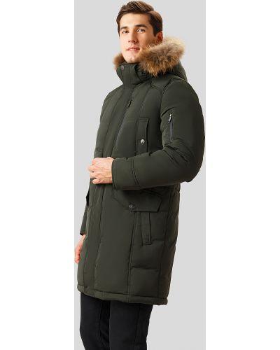 Зеленое пальто пуховое Finn Flare