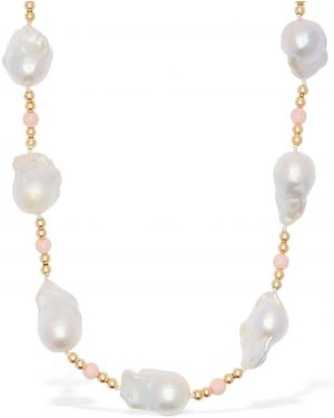 Żółty złoty krótkie szorty perły Ca&lou