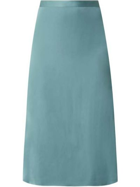 Zielona spódnica midi rozkloszowana z wiskozy Esprit Collection