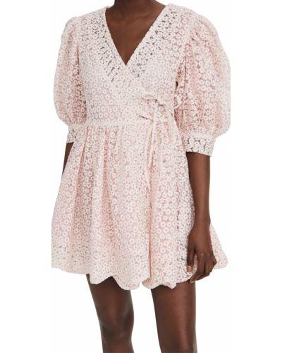 Розовое платье мини из вискозы стрейч Sister Jane