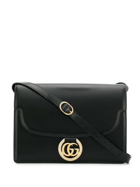 Czarny skórzany tornister z kieszeniami Gucci