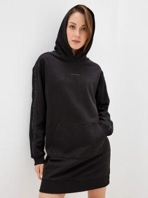 Черное зимнее платье Calvin Klein Jeans