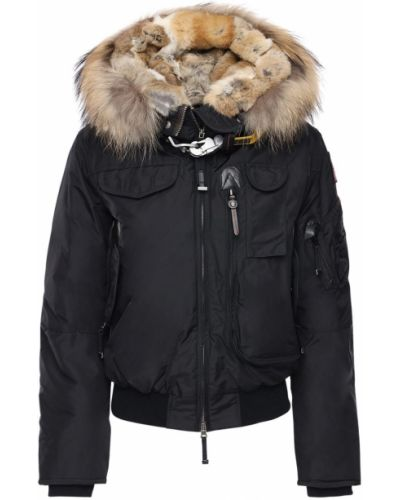 Нейлоновая куртка с капюшоном на молнии с мехом двусторонняя Parajumpers