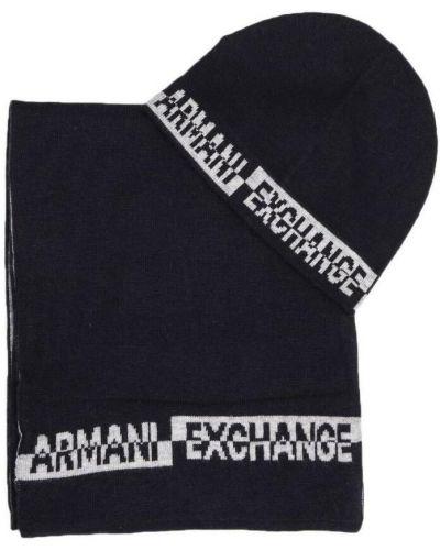 Czarny szalik Armani Exchange