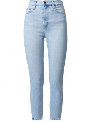 Хлопковые зауженные джинсы с завышенной талией классические Nobody Denim