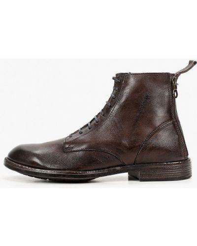 Коричневые кожаные ботинки F.lli Rennella