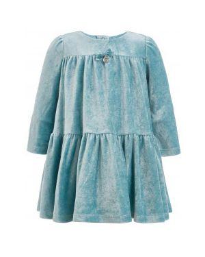 Теплое платье сетчатое велюровое Gulliver Wear