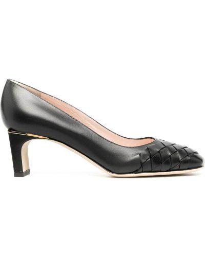 Лодочки на каблуке - черные Pollini