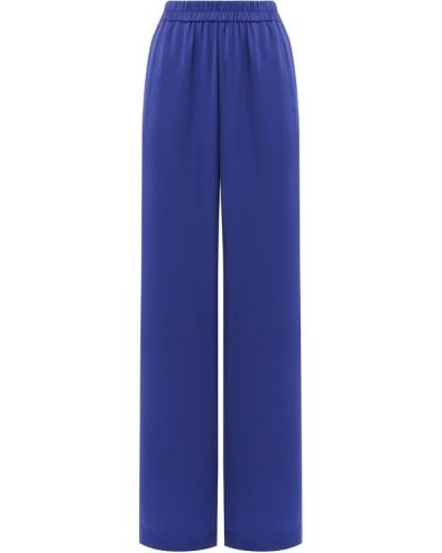 Свободные брюки из вискозы синие Poustovit