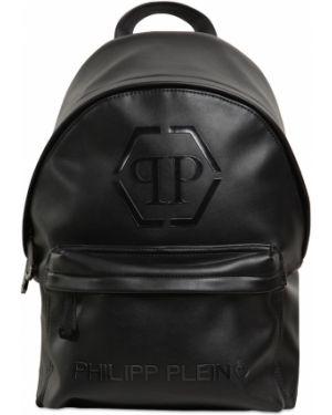Czarny plecak na laptopa skórzany Philipp Plein Junior
