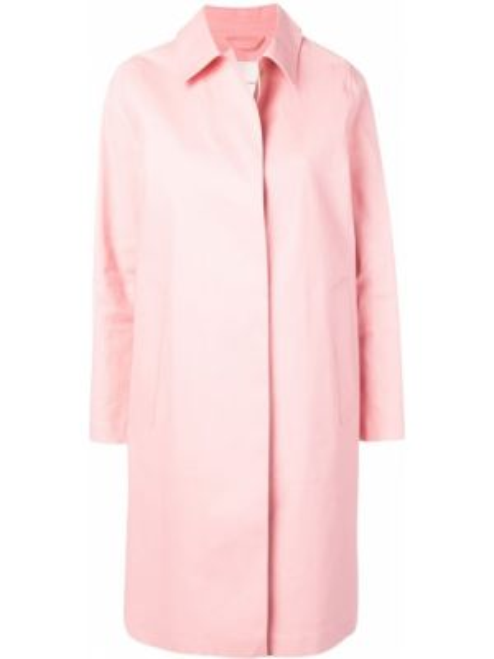 Прямое пальто классическое с капюшоном с воротником Mackintosh