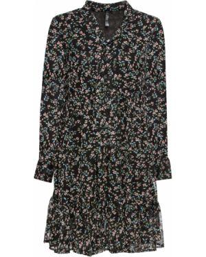 Платье мини на шнуровке с вырезом Bonprix
