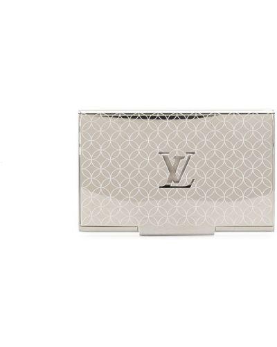 Серебряная визитница с перфорацией Louis Vuitton