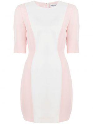 Różowa sukienka z jedwabiu Christian Dior