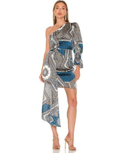 Свободное деловое синее платье Elliatt