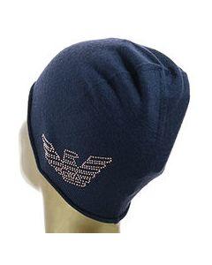 Синяя шапка шерстяная Ea7