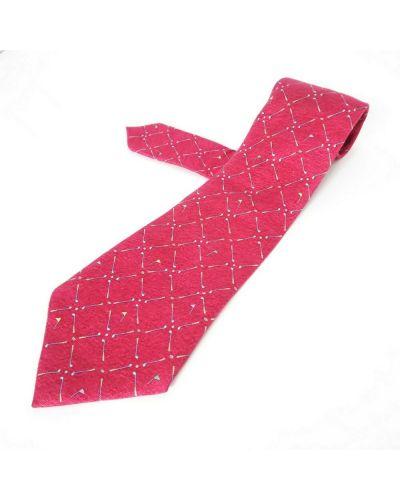 Krawat z jedwabiu - różowy Bvlgari Vintage