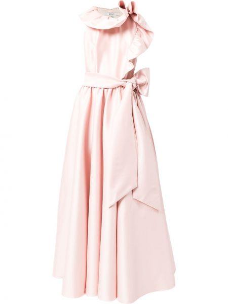 Różowa sukienka bez rękawów Badgley Mischka