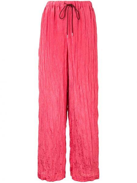 Розовые свободные брюки с поясом Muller Of Yoshiokubo