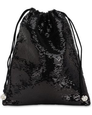 Czarna torebka z cekinami Ca&lou