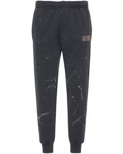 Czarne joggery bawełniane Askyurself