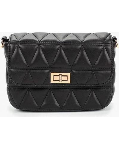 Кожаная сумка через плечо черная Jennyfer