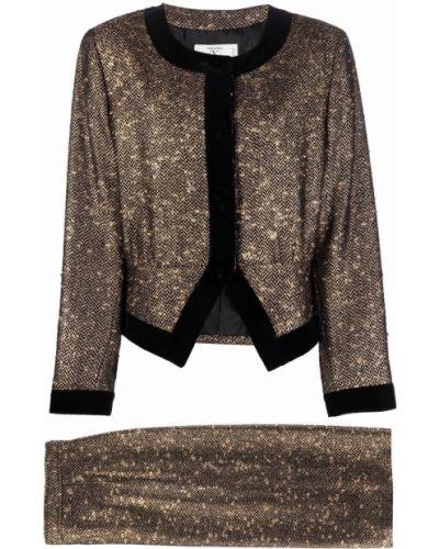 Złoty garnitur - czarny Valentino Pre-owned