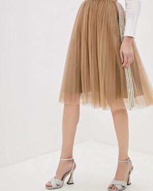 Плиссированная юбка бежевый With&out