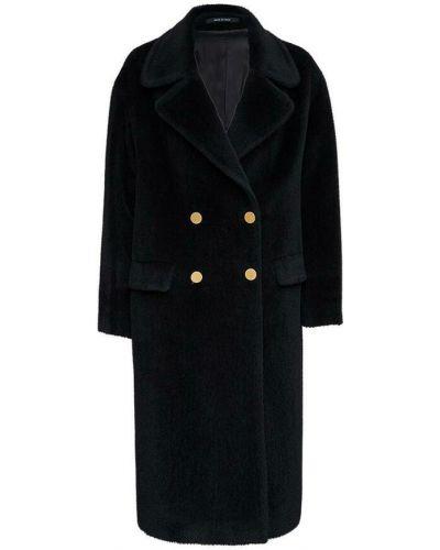 Czarny długi płaszcz Tagliatore
