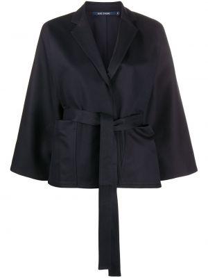 Синий удлиненный пиджак с поясом с запахом Sofie D'hoore