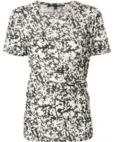 присобренная футболка с цветочным принтом Proenza Schouler