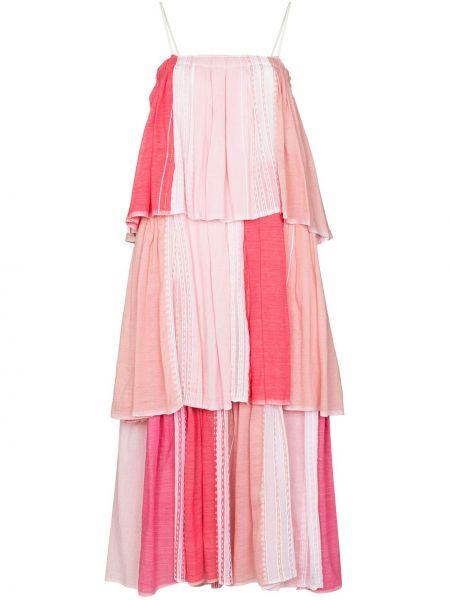 Różowy biustonosz bawełniany Lemlem