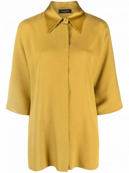 Рубашка с потайной застежкой из вискозы с воротником Piazza Sempione