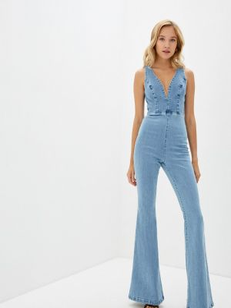 Синий джинсовый комбинезон Lança Perfume
