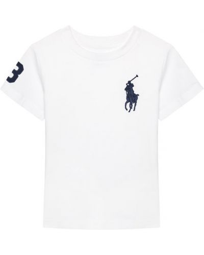 Biały t-shirt Polo Ralph Lauren