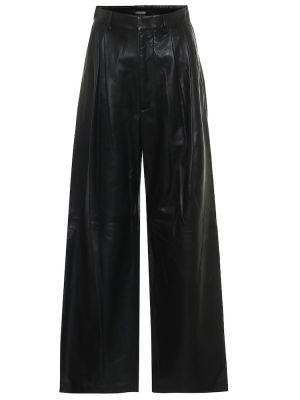 Кожаные черные брюки свободного кроя Dodo Bar Or