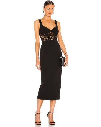 Домашнее кружевное черное платье Bardot