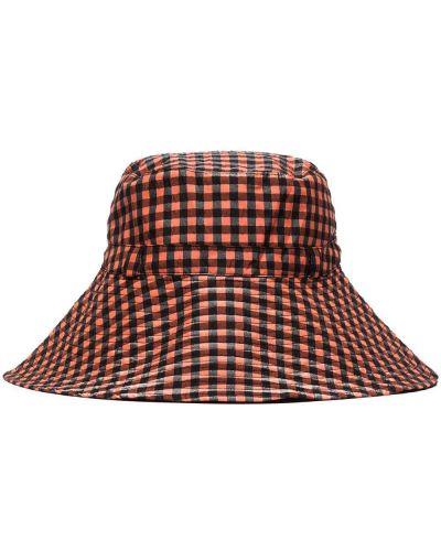 Czarny kapelusz bawełniany Ganni