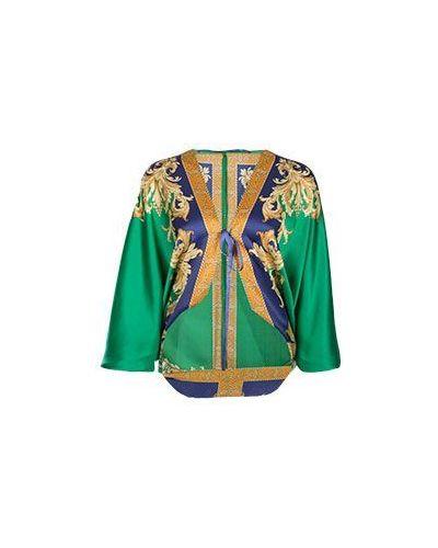 Зеленая блузка Luisa Spagnoli