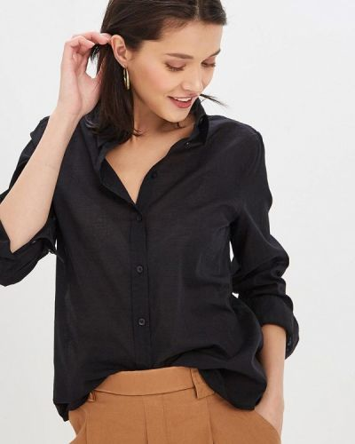 Рубашка с длинным рукавом черная United Colors Of Benetton