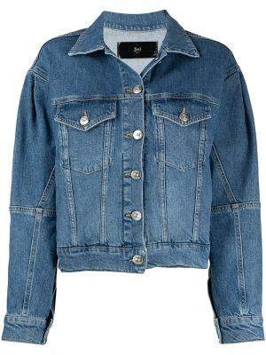 Хлопковая синяя джинсовая куртка с воротником 3x1