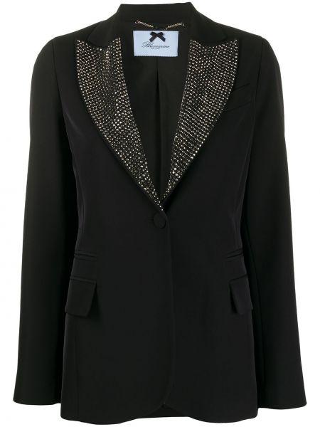 Черный пиджак на пуговицах Blumarine