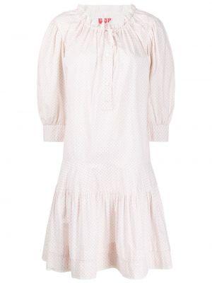 Платье с баской с оборками на пуговицах с воротником Kenzo Pre-owned