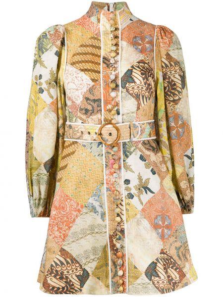 Платье мини макси на пуговицах Zimmermann