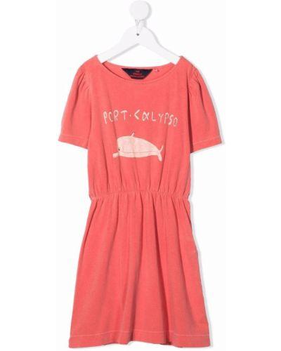 Sukienka mini bawełniana krótki rękaw z printem The Animals Observatory